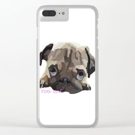 Pug Luv Clear iPhone Case