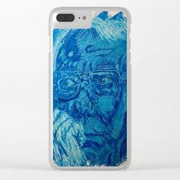 Blue man Clear iPhone Case