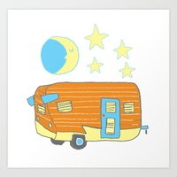 Goodnight Camper Art Print