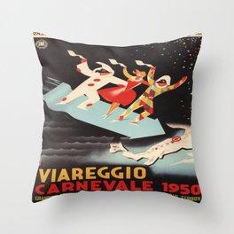 Vintage poster - Viareggio Throw Pillow