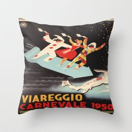 Vintage poster - Viareggio Throw Pillow