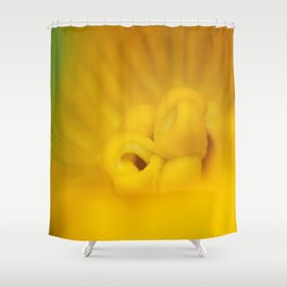 Zucchini Flower Shower Curtain