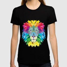 Geometric Rainbow Lion T-shirt