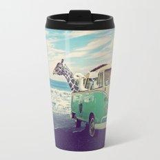 NEVER STOP EXPLORING THE BEACH Travel Mug