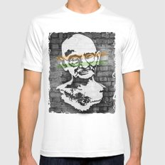 Gandhi MEDIUM Mens Fitted Tee White
