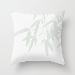 Leaves #Bamboo #Grey Throw Pillow