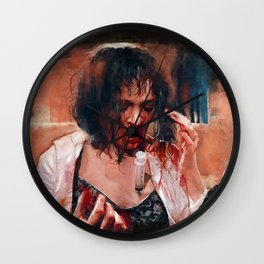 Pulp Fiction Adrenaline Shot Wall Clock