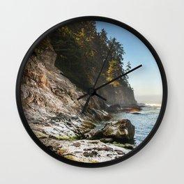 Oswald West coastline Wall Clock