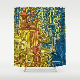 THERE WILL BE OIL Shower Curtain