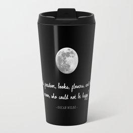 Freedom, Books, Flowers, & The Moon Travel Mug
