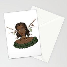 Autumn Oak Goddess • Black Girl Magic in Fall Colors Stationery Cards
