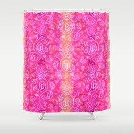 Floral pattern inspired by Hindu and Moroccan textiles Shower Curtain