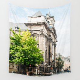 old street in Brussels Wall Tapestry