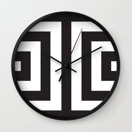 Black Greek Stripes Wall Clock