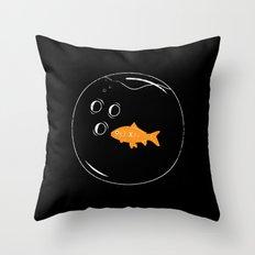 Fish Bowl Throw Pillow
