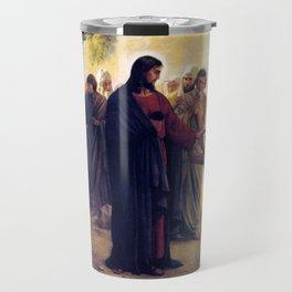 Carl Heinrich Bloch Jesus Christ Healing the Blind Man 1876 Travel Mug