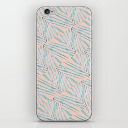 Palm Leaves Coral iPhone Skin