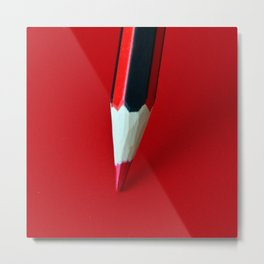 Crayon rouge red Metal Print