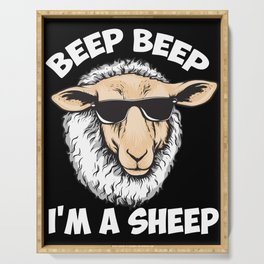 Beep Beep I'm A Sheep Serving Tray