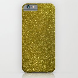 Classic Bright Sparkly Gold Glitter iPhone Case