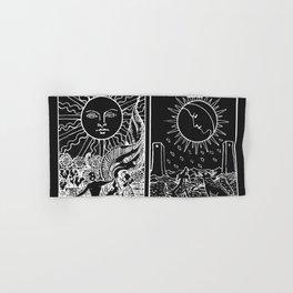 The Sun and Moon Tarot Cards | Obsidian & Pearl Hand & Bath Towel