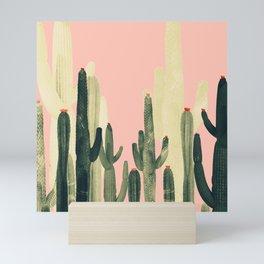 pink cactus Mini Art Print