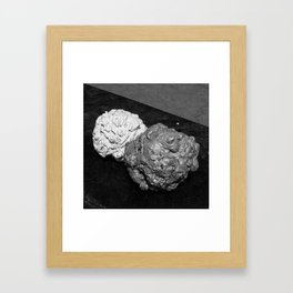 Concrete Blobs Framed Art Print