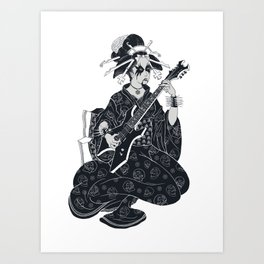 Black Metal Geisha Art Print