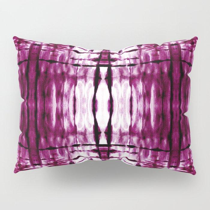 Black Cherry Plaid Shibori Pillow Sham