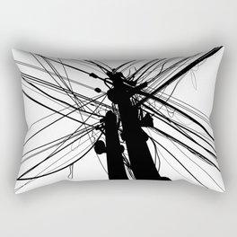 Electric Pole Rectangular Pillow