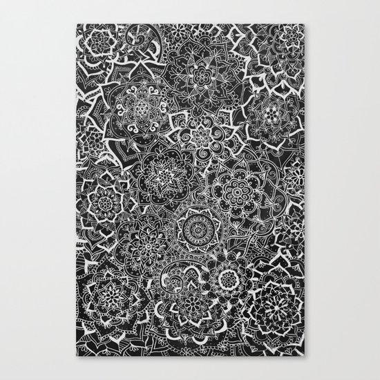 Delicate Lace Mandala Pattern Canvas Print
