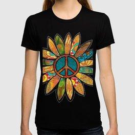 Earthy Peace Flower T-shirt