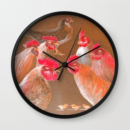 The New Chick On The Block In Red Wall Clock