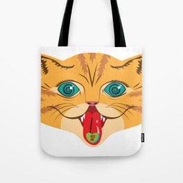 Kiss Me Ginger Cat Tote Bag