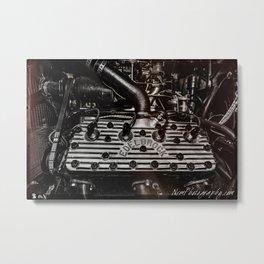 Edelbrock Flathead Ford Engine Metal Print