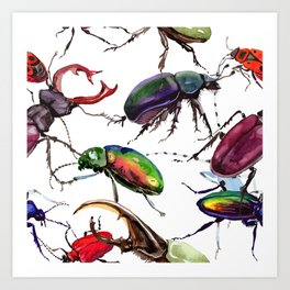 Beetles, Bugs, and Creepy Insects Art Print
