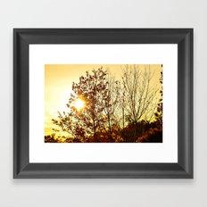 Fall Fire Framed Art Print