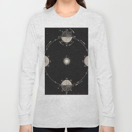 Sun and Moon Phase Diagram Long Sleeve T-shirt