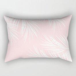 Pink Palm Rectangular Pillow