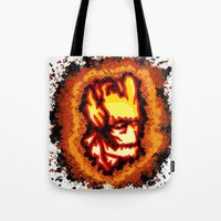 groot Tote Bags featuring Groot  by grapeloverarts