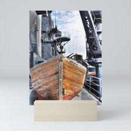 USS Lifeboat Mini Art Print