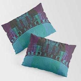 Ocean View - Mid Century Modern Abstract Geometry Pillow Sham