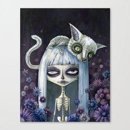 Felina de los muertos Canvas Print