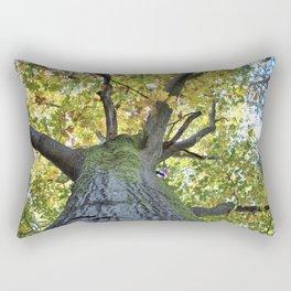 Giant Oak Tree Golden Leaves Rectangular Pillow