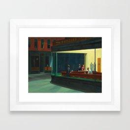 Edward Hopper's Nighthawks Framed Art Print