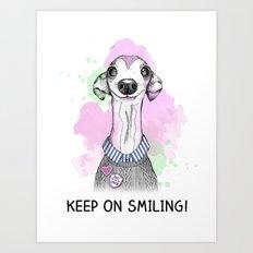 Italian Greyhound smiles Art Print
