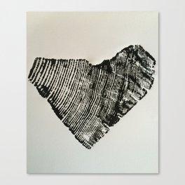 75 Year Heart Canvas Print