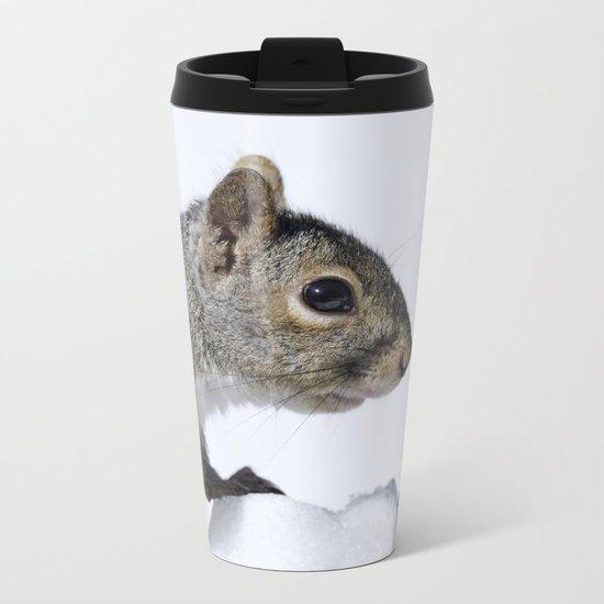 Snow Squirrel Metal Travel Mug