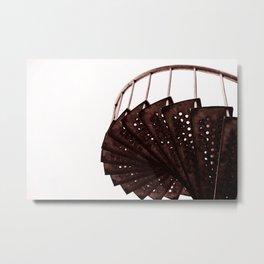 Rusty old industrial stairs Metal Print