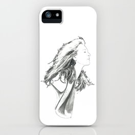 """Meryl Streep Drawing: """"Guardian Of The Press"""" (2017) iPhone Case"""